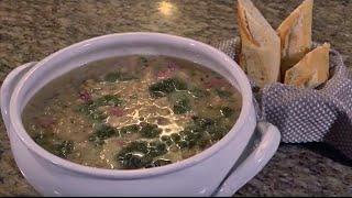 Tuscan White Bean Soup with Ham & Kale