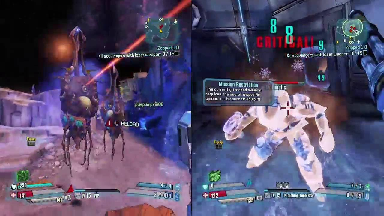 Borderlands: The Pre-Sequel (PS4) - 2 player split screen ...