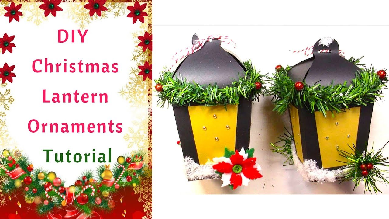 christmas paper lantern ornament and free template