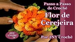 Passo a passo Flor de Cerejeira de crochê por JNY Crochê