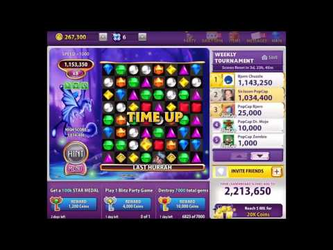Bejeweled Blitz Gameplay - T-Ray's Tips for Multipliers