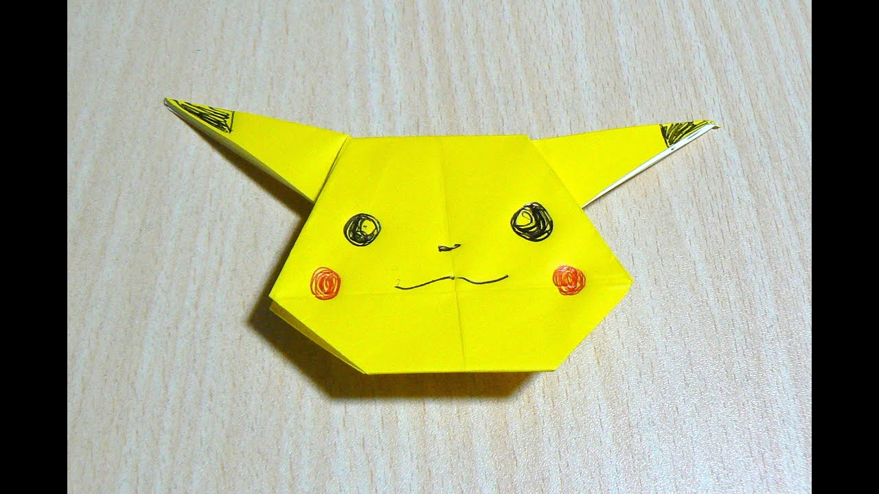 comment faire pikachu pokemongo origami l 39 art du pliage de papier youtube. Black Bedroom Furniture Sets. Home Design Ideas