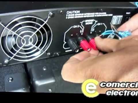 Video de conexin 2 subwoofers 18 mas amplificador mas