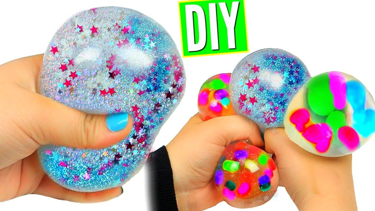 DIY Liquid Squishy Balls! Orbeez & Glitter Liquid Stress Balls ...