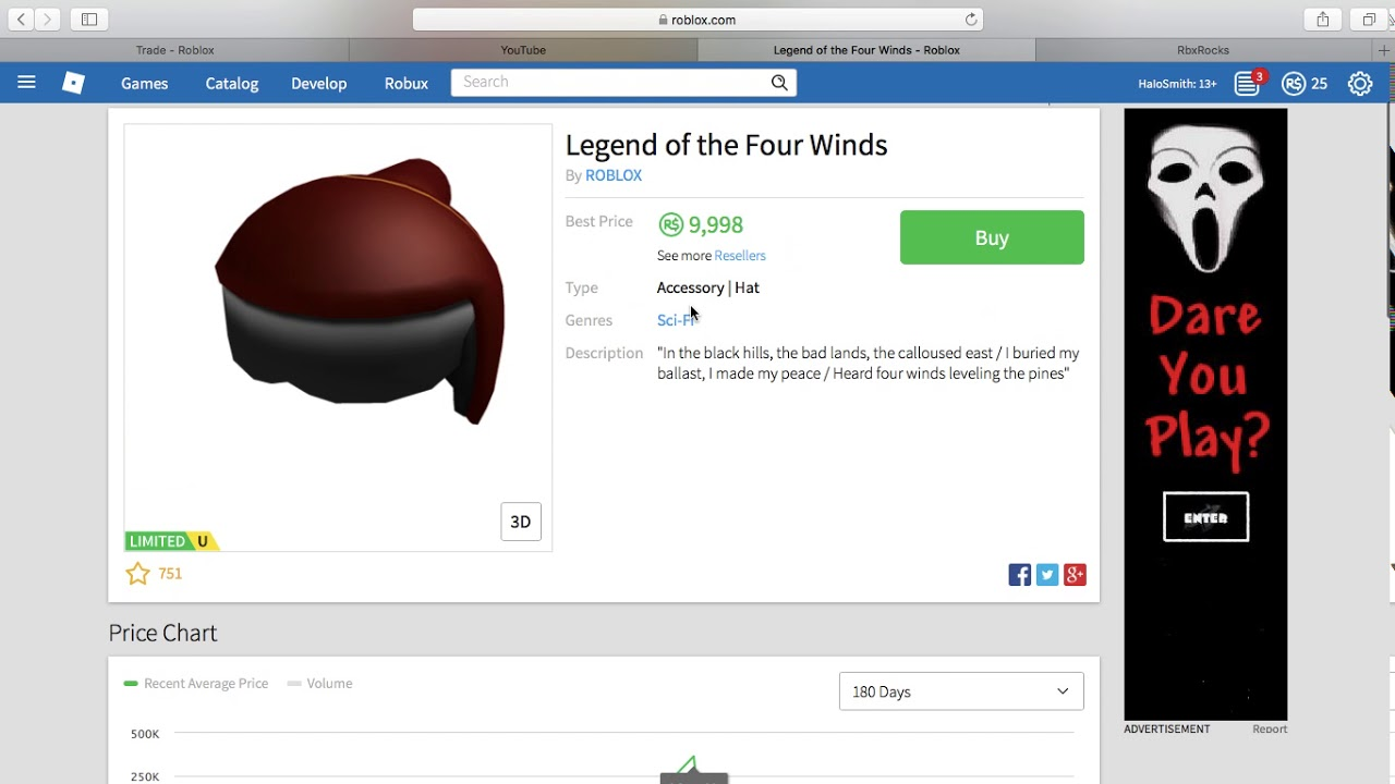 Roblox Item Info Projected Items Roblox Youtube