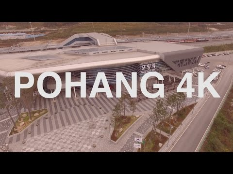Pohang Station, Pohang Korea 4K Aerial film