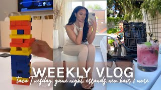 WEEKLY VLOG | TACO TUESDAY GAME NIGHT + LOTS OF ERRANDS + SPIN ART + MORE | ALLYIAHSFACE VLOG