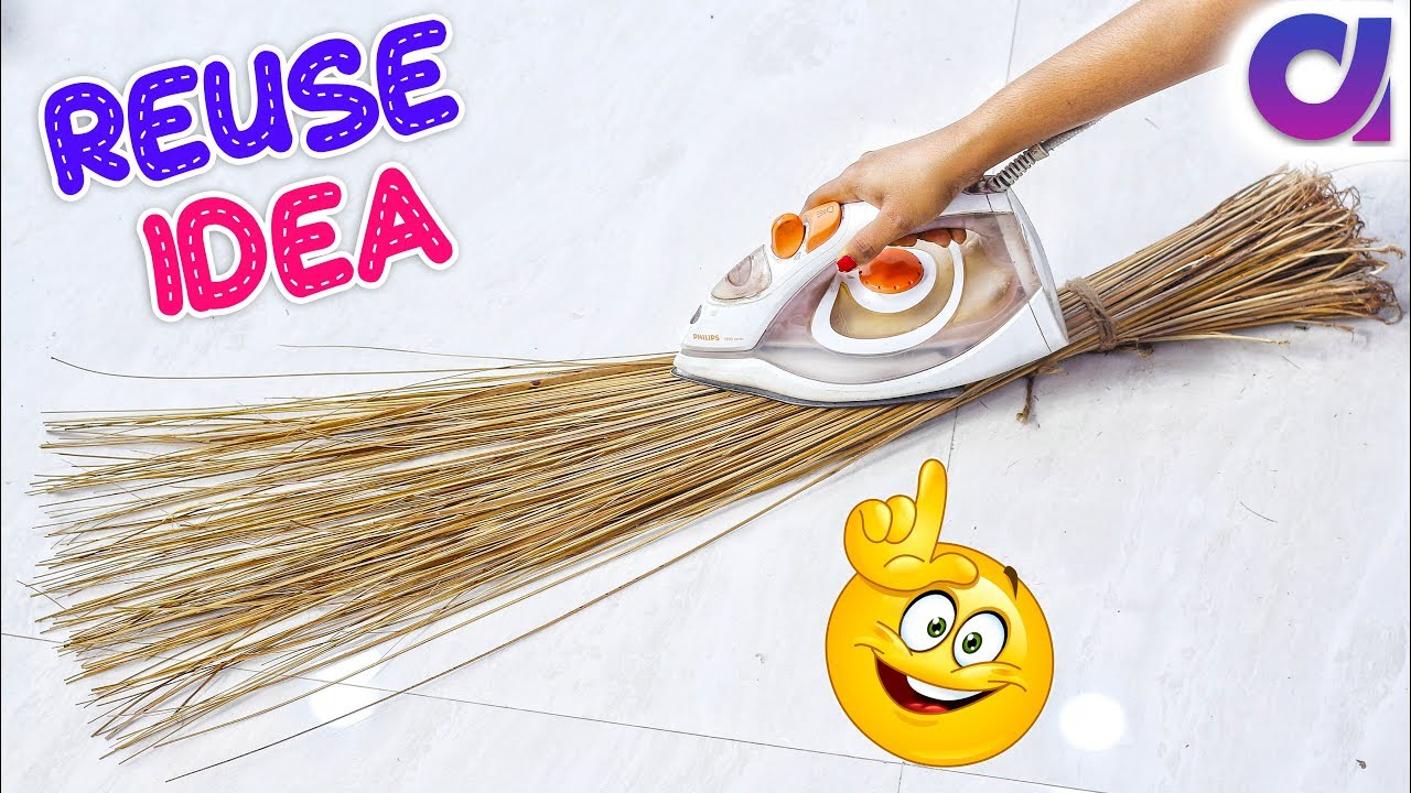 Best out of waste coconut Broom craft Idea | #DIY art and crafts ...
