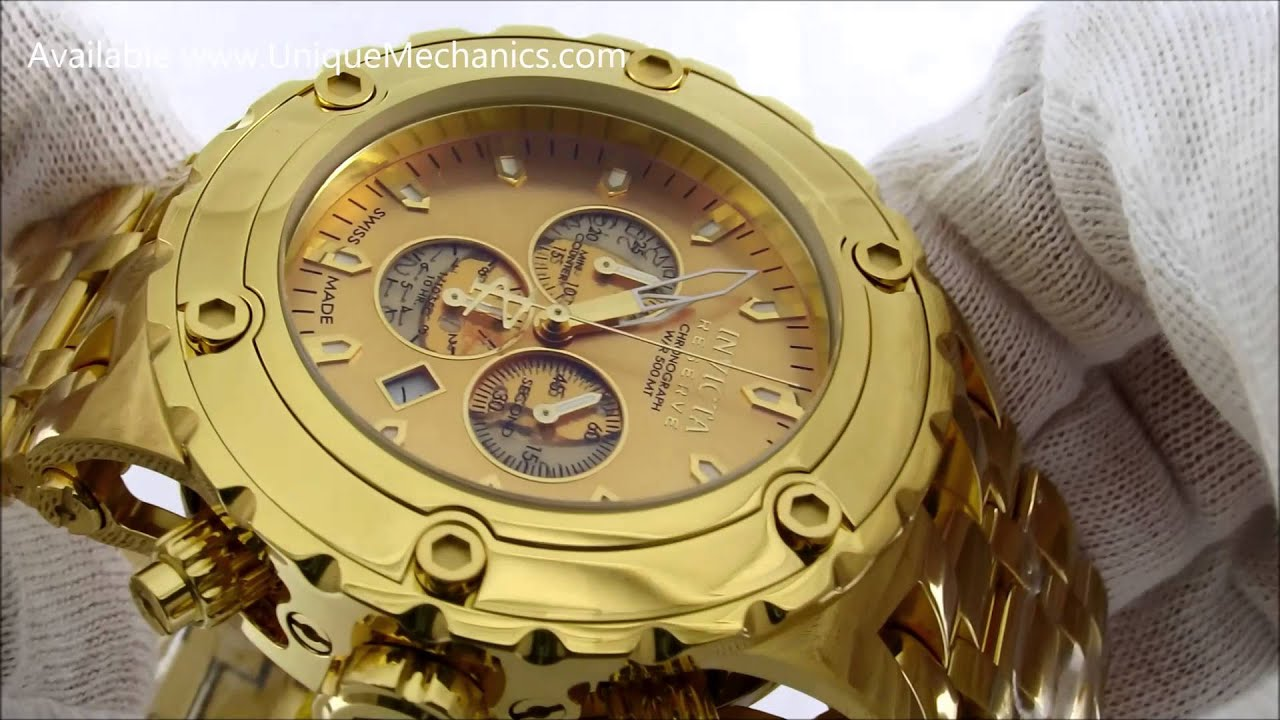 095dc089d47 Gold Invicta Subaqua Reserve 14506 Review - YouTube