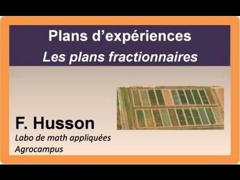 Cours sur les plans d'expériences : les plans fractionnaires