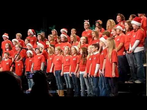 """2012 Christmas show Brookland middle school """"We wish you a Merry Christmas"""""""