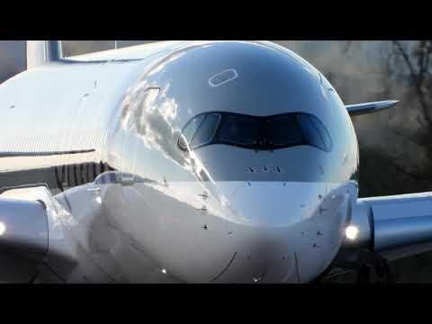 Qatar Airways Airbus A350 A7-ALJ Flight QR28 Manchester Airport to Doha