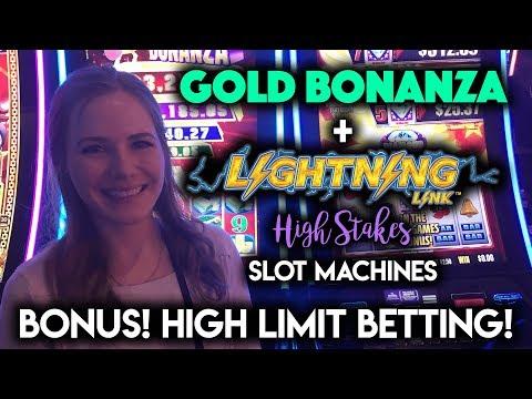 $25/SPIN Lightning Link! MAX BET Gold Bonanza! Bonus WIN!