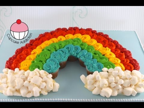 Cupcakes Rainbow Cupcake Pull Apart Cake Make A Out Of Mini