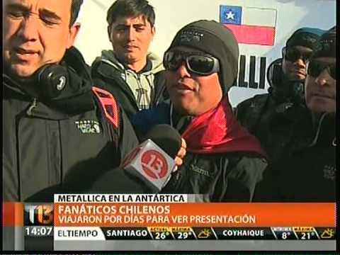 METALLICA BAJO CERO PRIMER CONCIERTO EN LA ANTARTICA TELETRECE 09 12 2013
