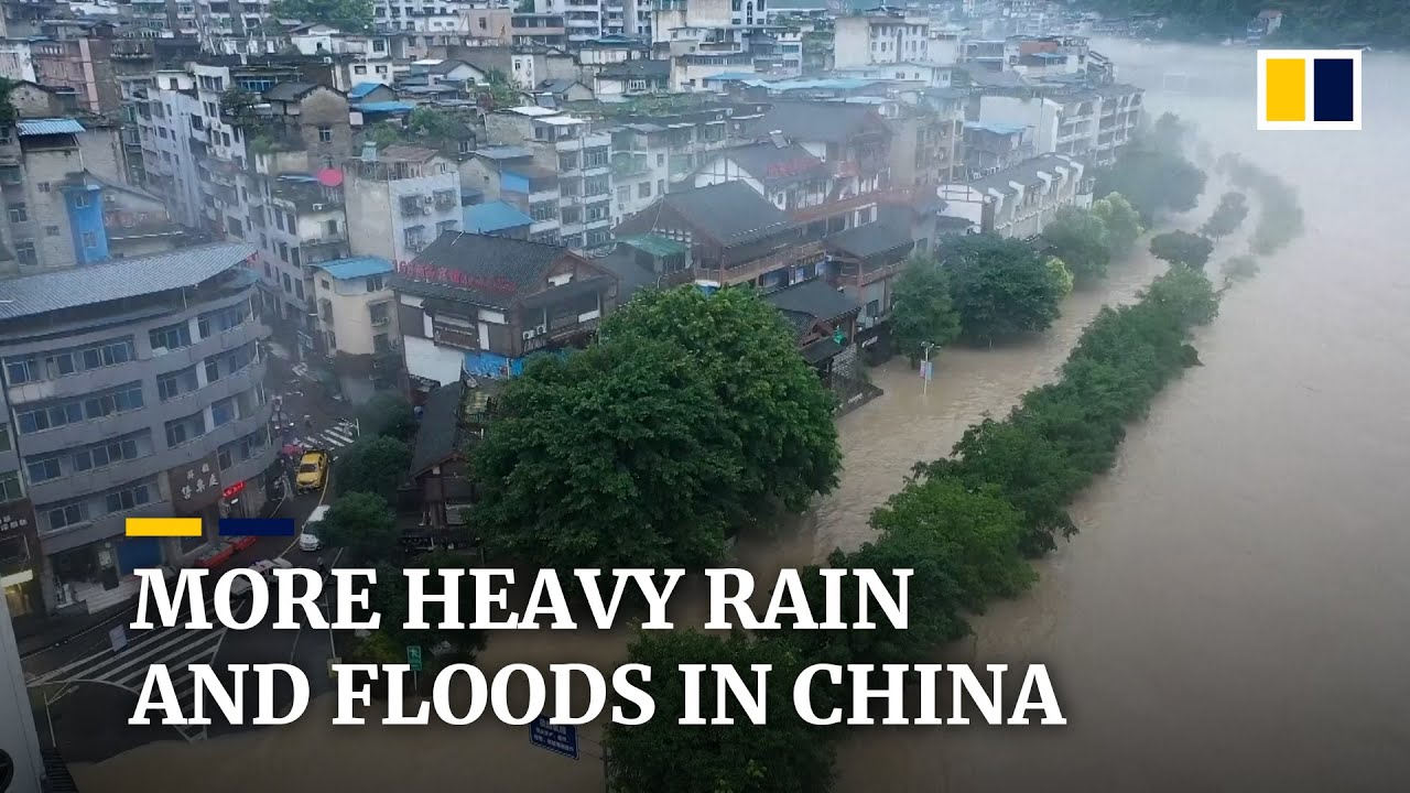 Download Heavy rain in China forces thousands to evacuate as deluge causes flooding and landslides