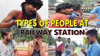 Types of People on || Railway Station || New Comedy Video || Crack Minde