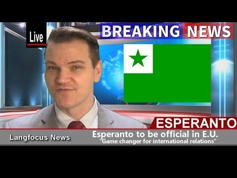 ESPERANTO TO BECOME OFFICIAL E.U. LANGUAGE  (April Fool