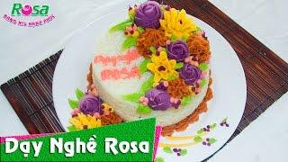 Xôi Hoa Hàn Quốc trang trí kiểu bánh sinh nhật tuyệt đẹp