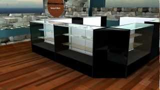 Retail Display Counter and Display Case Kiosk .avi