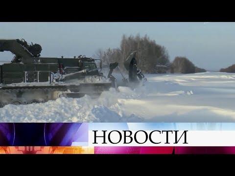 В Саратовской области ликвидируют последствия мощного снегопада.