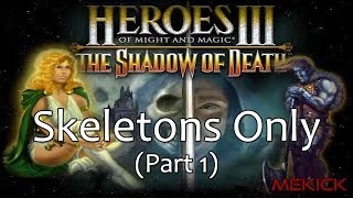 heroes of Might and Magic III: Skeletons Only 1v7 FFA (200) ft. 50 Necromancy Nerf Part 1