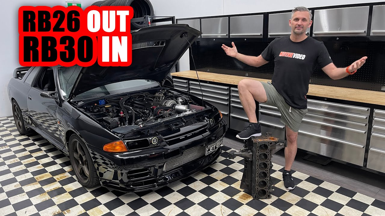 How to Really Convert Your Skyline GT-R from RB26 to RB30 Block - Motive Tech