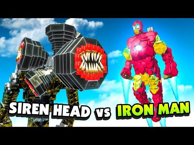Can DARK SIREN HEAD Stop Ultimate IRON MAN? - Animal Revolt Battle Simulator
