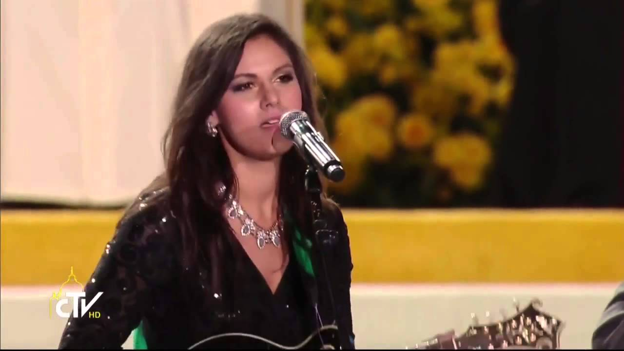 Marie Miller's Performance in the Festival of Families with Pope Francis