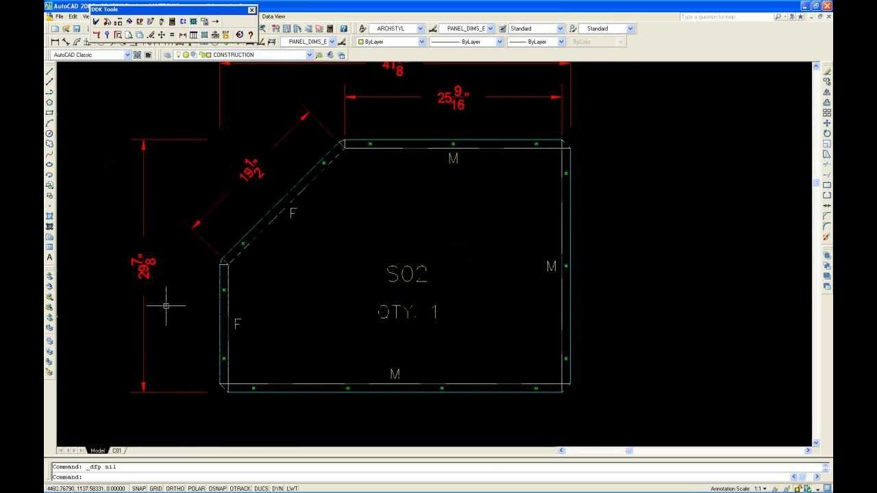 Convert AutoCAD to Composite Panels