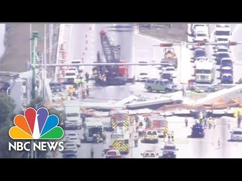 Fatalities Reported In Florida Pedestrian Bridge Collapse   NBC News