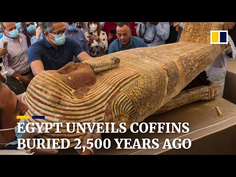 Egypt unveils 59 ancient coffins buried 2,500 years ago