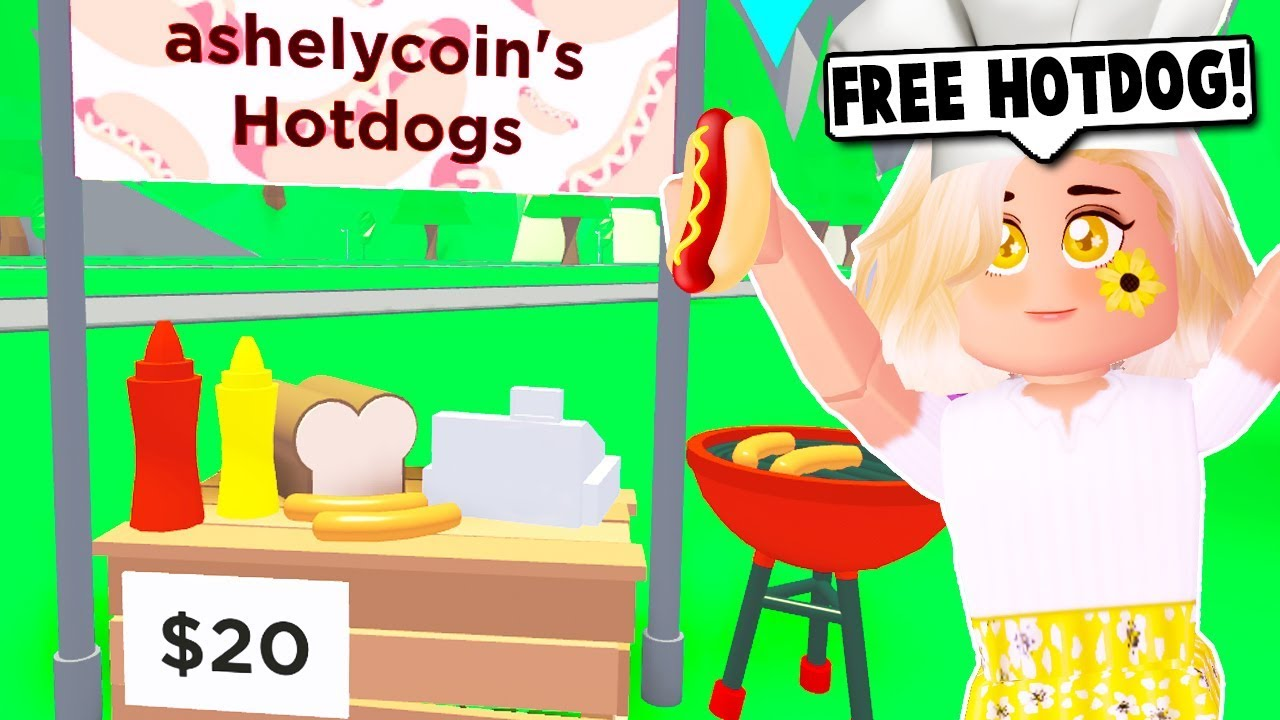 How To Get A Free Hotdog Stand On Adopt Me New Update Roblox Youtube