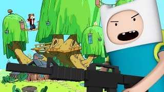ADVENTURE TIME GETS CRAZY GUNS! Minecraft Gun Mini-Game Battle!