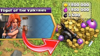 VALKYRIE STOLE MY GOLD!! | Clash of clans | GOLD GRAB EVENT!!