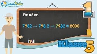 Runden von Zahlen üben || Klasse 5 ★ Übung 1