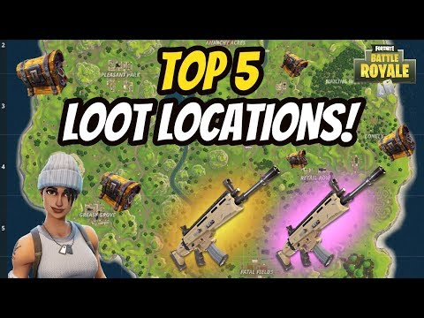 TOP 5 PLACES TO LOOT THE SCAR In FORTNITE BATTLE ROYALE! SCAR LOCATION! (ALL CHEST LOCATIONS)