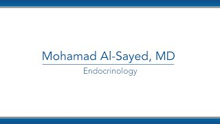 Mohamad Al-Sayed, MD video thumbnail