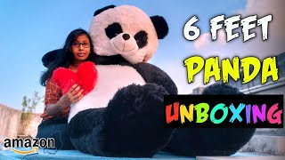 6 Feet Panda Soft Toy Unboxing Giant Panda Soft Toy Unboxing 6 Feet Teddy Bear Unboxing For Her