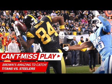 You Won't Believe Antonio Brown's One-Handed Helmet Catch for a TD! | Can't-Miss Play | NFL Wk 11