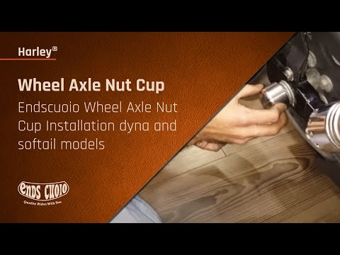 Harley Davidson Fat Bob >> Endscuoio Wheel Axle Nut Cup Installation dyna and softail models - YouTube