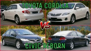Honda Civic Reborn VS Toyota Corolla 2012 | Comparison.