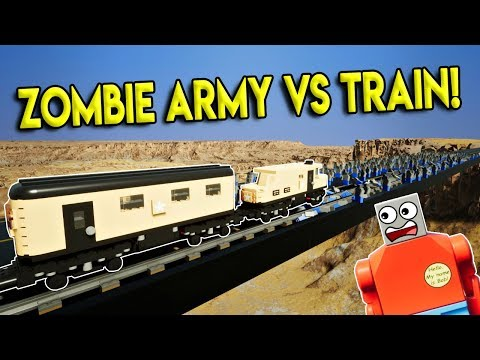 LEGO ZOMBIE ARMY VS TRAIN DESTRCUTION! - Brick Rigs Gameplay Challenge & Creations