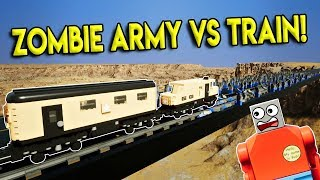 LEGO ZOMBIE ARMY VS TRAIN DESTRUCTION! - Brick Rigs Gameplay Challenge & Creations