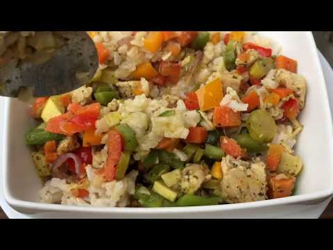 How to make Healthy pesto chicken rice bowl