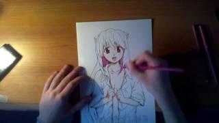 Elfen lied drawing