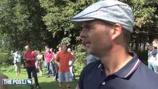 Frank de Boer fanatiek op NK Footgolf