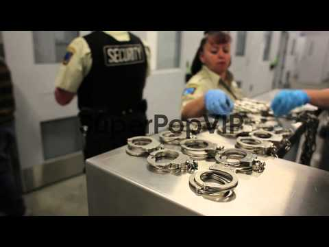U.S. Immigration and Customs Enforcement agents search im...