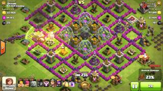 [Dyson Lin] Clash of Clans Level 81 - My Defense Against Level 7 Archers & Barbarians