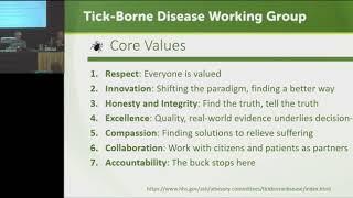 Tick-Borne Disease Working Group Meeting - May 16, 2018